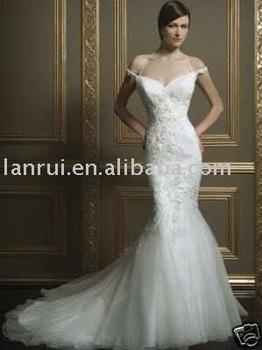 free shipping popular bridal wedding dress LR-W2053