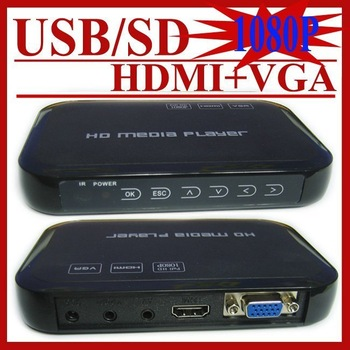 USB Full HD 1080P HDD Media Player HDMI VGA MKV H.264 SD - Sample