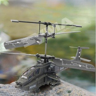 New arrival 6in Mini 15cm Syma S012 Apache AH-64 3CH IR RC helicopter with LED Lights Plane Toys(China (Mainland))