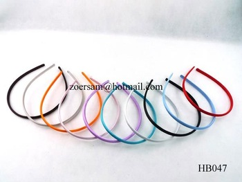 free shipping! 200pcs/lot fashion satin headbands,multi color mixed