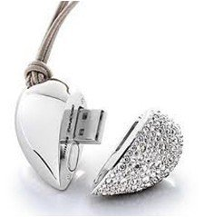 Free Shipping! fashion jewellery heart USB Flash Drive Creative novelty design U disk 4GB 8GB 16GB 32GB 100%real capacity