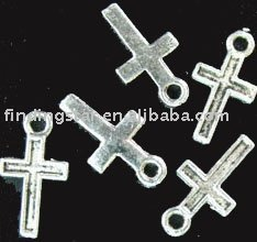 FREE SHIPPING 750Pcs Tibetan silver tiny cross charms 15x8mm A496(China (Mainland))