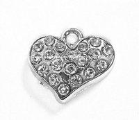B16 Free Shipping 100pcs zinc alloy enamel   heart charms pendant enamel charms 19*17mm