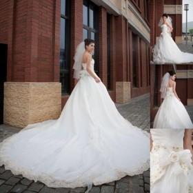 Cauda Grande boutique casamento de luxo - nova marca mais magro cintura alta(China (Mainland))
