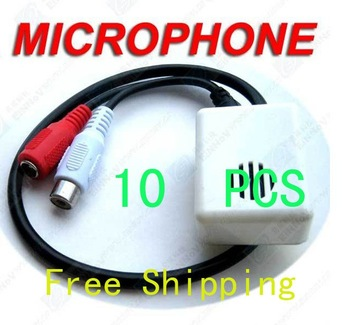 Free Shipping 10 pieces Security Mic For CCTV Camera Microphone F04