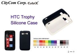 CUBIX silicone GEL Skin Case cover for HTC Trophy mobile phone(China (Mainland))