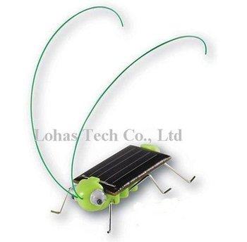 20pcs Solar Grasshopper toy &green/black +free shipping
