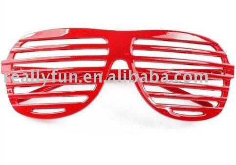 15pcs/lot/ wholesale Shutter shades Glasses/ no lens cool window Sunglasses Club Party glasses, plastic(China (Mainland))