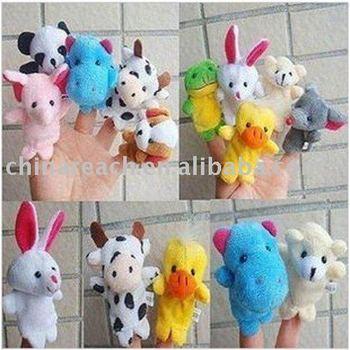 T001  2 Models  Animal Finger Puppet,Finger toy,finger doll,baby dolls Free Shipping 100pcs/lot (A model)  ,48pcs/lot (B model)