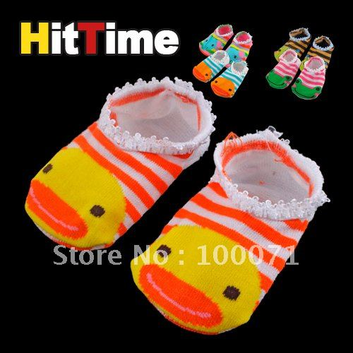 80Pairs/lot Cute Baby Kids Toddler Ankle Socks Non-slip Booties [4126|01|80](China (Mainland))