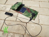 Emergency relief supply portable solar charger