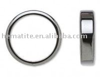(Mini Order $10USD) Wholesale Lots of Flat Magnet Rings Black Stone  Rings Men's Magnetic Hematite Stone Rings []