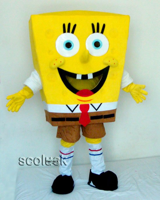 Retail/ wholesale High quality Sponge Bob Mascot Cartoon Costume of Suppliers(China (Mainland))
