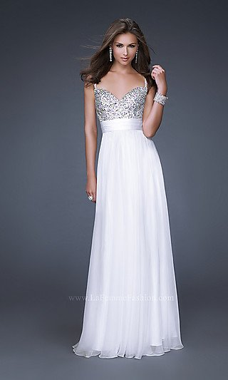 2011 Hot Sale New Style A-line V-neck Poly Chiffon Beading White Prom Dress(China (Mainland))