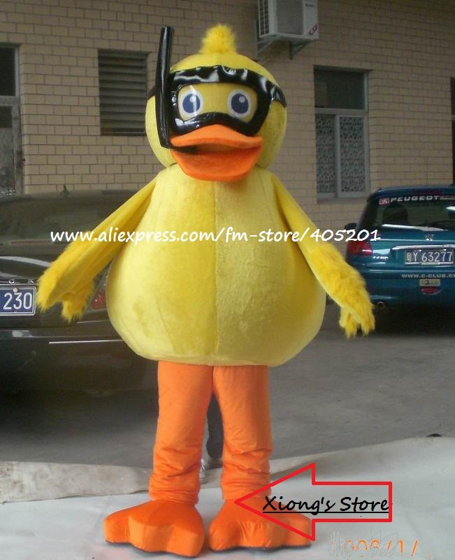 diving duck costume cute duck mascot costume(China (Mainland))