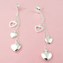 New FASHION Jewelry 925 Sterling Silver charm stud Earrings+Wholesale and retail FREE SHIPPING 100% Satisfaction(China (Mainland))