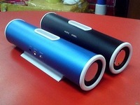 Aluminum Straight Mini Subwoofer Speaker / computer small speaker can be connected MP3, MP4, PC