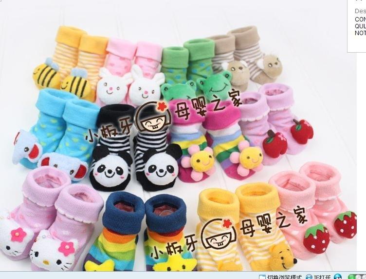 Atacado - meias bebê sapatinho infantil meias sapatos arrancar 26 pares/lote novo com caixa(China (Mainland))