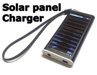Free shipping wholesale 5pcs/lot NEW Solar Power Charger For Mobile Phone Camera PDA MP3 MP4