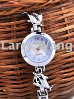 Personality, fashion, turn the clock back, counterclockwise Dolphin Bracelet Ladies Watches free shipping