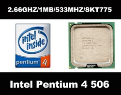 Free Shipping intel p4 506 pentium 4 506 cpu processor 2.66ghz/1mb/533mhz socket 775(China (Mainland))
