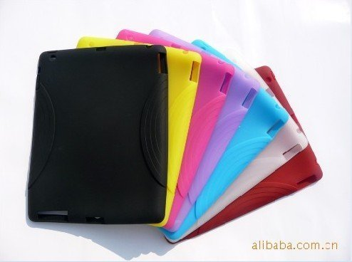 10pcs/lot Silicone Case Cover Skin for ipad 2(China (Mainland))