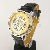 Наручные часы Fashion High End Mechanical Transparent Stainless Steel Strap Wrist Watch 6768