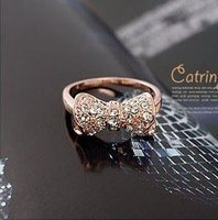25pcs/lot, 30 dias na venda, 17 milímetros, por atacado 18k GP anel de ouro rosa crystal.shipping inlayed(China (Mainland))