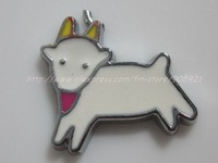 Free Shipping 100Pcs/Lots Zinc Alloy Metal white sheep  Enamel ' HOLLO KITTY 'Charms Pendants