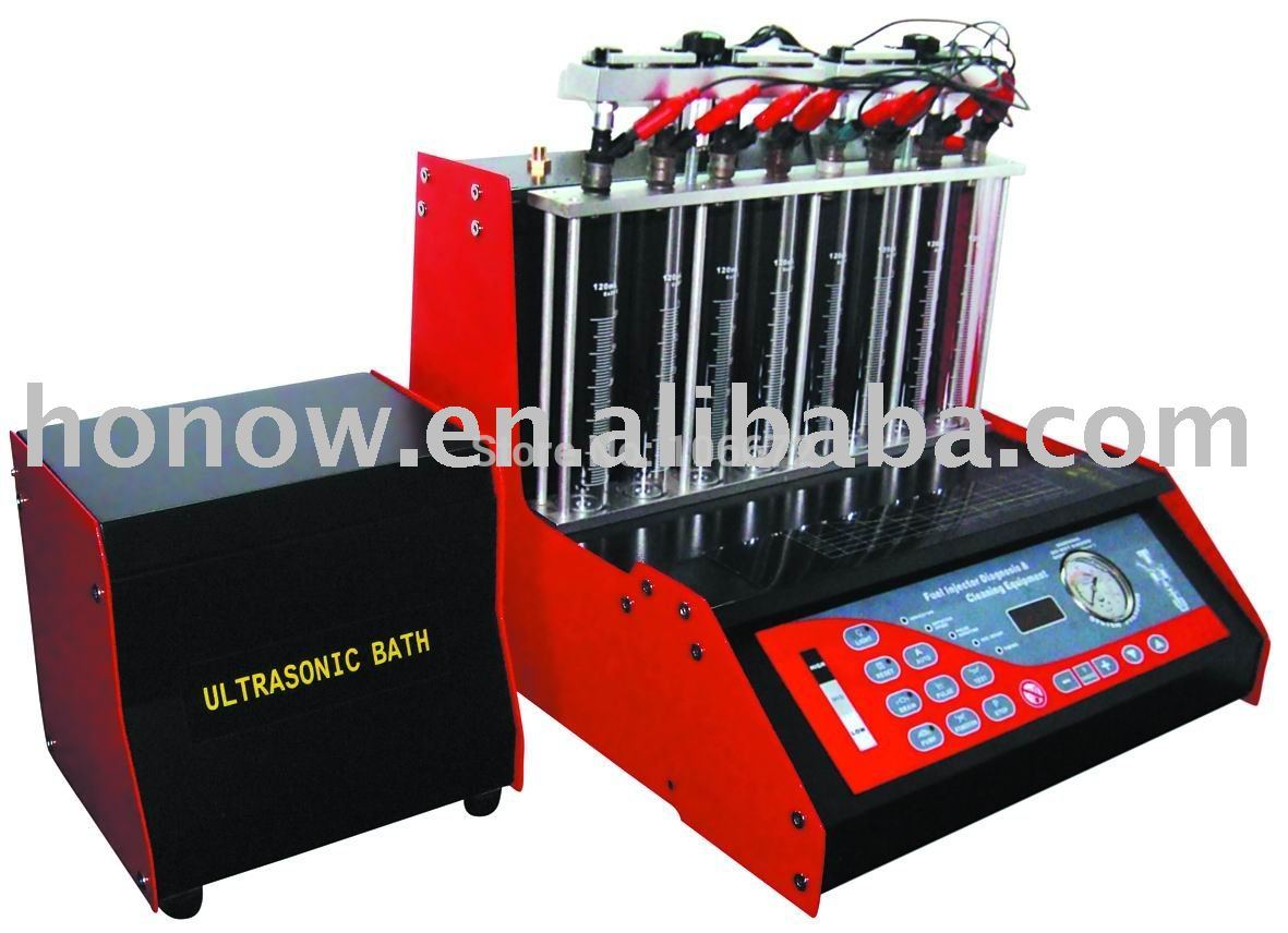 Free shipping! Auto Fuel Injector Cleaner and Tester,8cylinders of gasoline fuel injector cleaner. (with working table)(China (Mainland))