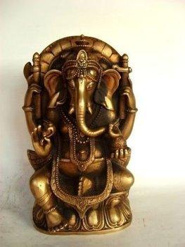 RARE bronze statue tibet  Buddha adorn Elephant  Free shipping