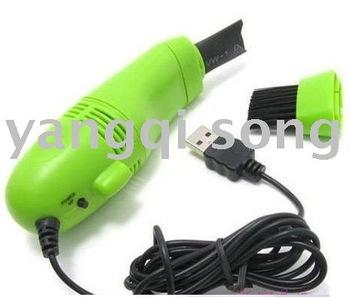 free shipping 5pcs/lot MINI USB VACUUM KEYBOARD CLEANER for PC LAPTOP