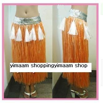 marrom / Personalidade grama havaiano saia / L80CM * Lantejoula 7cm / Halloween festa a fantasia show de dança traje do partido saia de grama(China (Mainland))