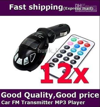wholesale free shipping 12pcs/lot.Remote Car MP3 Player Wireless FM Transmitter USB SD Card Jack car transmisor