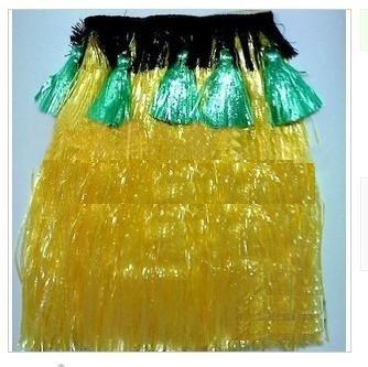 amarelo / Engrossar Personalidade grama havaiano saia / L60CM / Halloween festa a fantasia show de dança traje do partido saia de grama(China (Mainland))