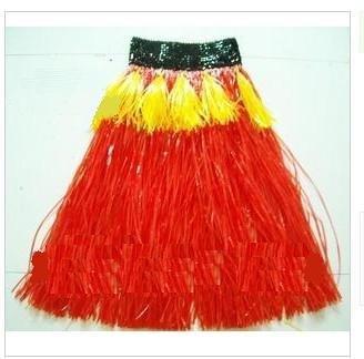 Vermelho / Engrossar Personalidade grama havaiano saia / L60CM / Halloween festa a fantasia show de dança traje do partido saia de grama(China (Mainland))