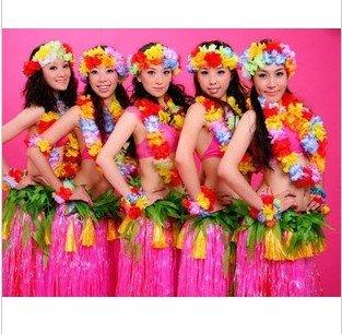 dupla camada / Engrossar Personalidade grama havaiano saia / L80CM / Halloween festa a fantasia show de dança traje do partido saia de grama(China (Mainland))