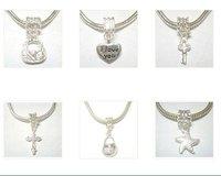 Free Shipping 10pcs/lot Mix Style Silver Pendant Fit Charm Bracelet Necklace PD23