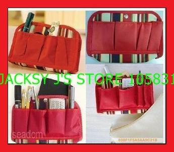Free shipping Wholesale NEW Makeup / MP3 Phone Storage Organizer Multi Bag Purse Hop Bag Handbag Insert, Bag in Bag, 10pcs/lot