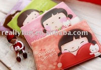 50pcs/lot, Wannathis momoi Korean style cute card bag/purse, card case, bank card holder,PVC credit card pouch,can hold 12 cards