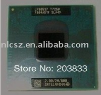 Intel laptop CPU T7250 SLA49 2.0GHz 2M 800MHz free shipping cost bulk packing