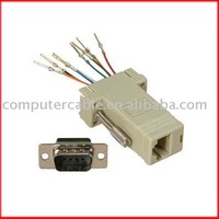 DB9 Female to RJ45 Female RS232 Modular Adapter