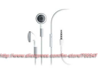 3.5mm Jack In-Ear Headset Headphone Earphone With MIC For Apple iPod iPhone 3G 3GS 4G 3pcs(China (Mainland))