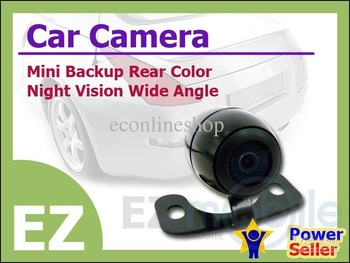 NTSC or PAL Mini Wide Angle Night Vision Back Up Car Rear Color Camera + Register Mail Service