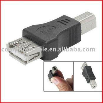 100pcs USB A Female to Type B Male Adapter Converter printer M