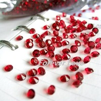 FREE SHIPPING--1000pcs 1/3 Carat (4.5mm) Crimson Red Diamond Confetti Wedding Party Decoration