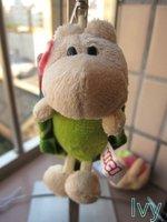 "NICI Flower Green turtle Stuffed key Chain 4.5""new"