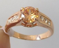 Ring.Size 9(S).Free shipping.Gift insurance. Provide tracking numbers.18K GP Yellow Gold Ring.Fashion jewelry.