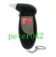 Free shipping+ 10pcs High alcohol tester / portable alcohol tester with backlight / 4 gas nozzle