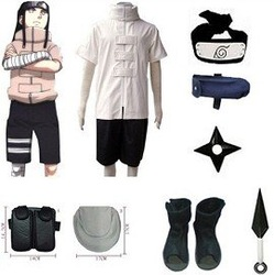 Anime Naruto Cosplay - Naruto cosplay Neji Hyuga Bundle Big Promotional Package Cosplay Costume Set Freeshipping(China (Mainland))